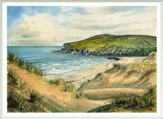 Melvich Bay, Sutherland Scotland. Painted by Stuart Mingham  http://www.art-from-viewpoints.co.uk