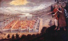 De muren en poorten zijn een bewijs  van Gods verkiezende genade en tegelijk de verwerping van onbekeerden.