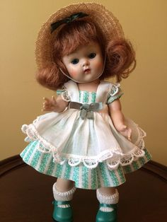 Vintage Vogue Strung Ginny Doll, Lucy #39, 1953, Tiny Miss #DollswithClothingAccessories