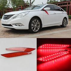 132.05$ Watch now - http://ali012.worldwells.pw/go.php?t=1776100143 - LED Reflector Rear Tail Light Bumper with Turn Singnal For Hyundai Sonata 8th 132.05$