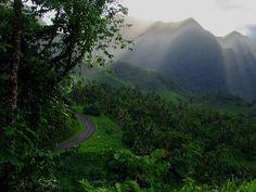 Somewhere on a Samoan Island.