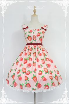 #LolitaUpdate: [-❤-Sweet Strawberry-❤-] Sweet Lolita High Waist JSK