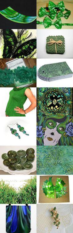 ღೋ ~ BNR Therapy Team PIFღ Green With Envy  ೋ  by Cindy on Etsy--Pinned with TreasuryPin.com #jewelry #homedecor