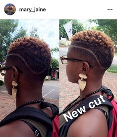 I love this look. Very simple yet stylish and fresh Short Natural Haircuts, Tapered Natural Hair, Pelo Natural, Sassy Hair, Edgy Hair, Tapered Haircut, Fade Haircut, Dreads, Curly Hair Styles