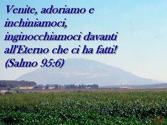 Cartoline con versetti biblici: saliamo sulla nostra 'montagna' segreta per pregare e adorare il Signore Iddio