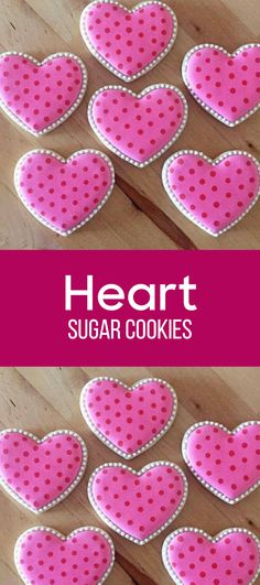 Heart Shaped Bridal Shower Cookies #affiliate