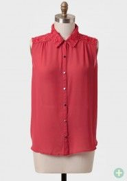 coralline embellished curvy plus blouse