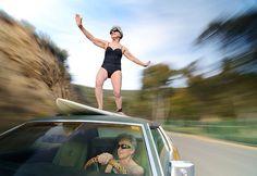 Photographer JENS LUCKING  Surfer Grannies  ONE EYELAND