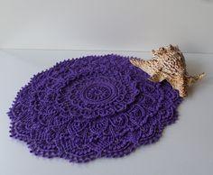 Sugar Rush, Crochet Numbers, Crochet Round, Crochet Doilies, Violet, Crochet Earrings, Dots, Texture, Handmade Gifts