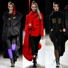 Yohji's Red - I have been addicted to Yohji's red for some time now. I bought a black x red top for summer, and a cashmere snood for winter. It is the red of reds we have had in Japan as a traditional undergarment colour.  Yohji Yamamoto FW 2012-2013- Stylert-5