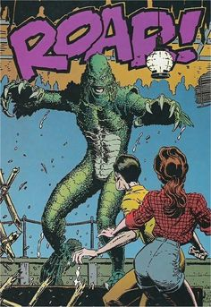 """Artwork for Dark Horse Comics adaptation of Creature From The Black Lagoon comic with art by Author """"Art"""" Adams"""