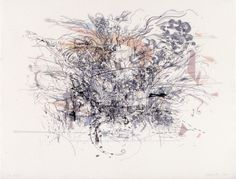 Julie Mehretu, Rogue Ascension, 2002. Lithograph, printed on three sheets, and mounted: sheet, 24 1/2 × 32 in. (62.2 × 81.3 cm);