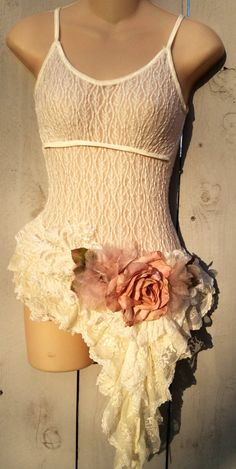 AAOK Romantic Vintage,Up cycled Lace Pixie Blouse,Shabby Chic,Victorian Blouse, Wearable Art by KisKissay on Etsy