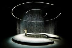 Image 18 of 24 from gallery of When Droplets Create Space: A Look at Liquid Architecture. Light in Water, Paris. Light Architecture, Architecture Photo, Landscape Architecture, Ancient Architecture, Sustainable Architecture, Japan Design, Instalation Art, Architectural Lighting Design, Stage Set Design
