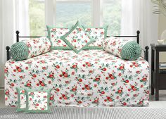 Diwan Sets Printed Pure Cotton 90 X 59 Diwan Set  Bedsheet Fabric: Cotton Bolster Cover Fabric: Cotton Cushion Cover Fabric: Cotton No. of Bedsheets: 1 No. of Bolster Covers: 2 No. of Cushion Covers: 5 Thread Count: 180 Print or Pattern Type: Solid Multipack: 1 Sizes:  Free Size (Bedsheet Length Size: 90 in Bedsheet Width Size: 59 in Bolster Cover Length Size: 32 in Bolster Cover Width Size: 15 in Cushion Cover Length Size: 15 in Cushion Cover Width Size: 15 in) Country of Origin: India Sizes Available: Free Size   Catalog Rating: ★4.3 (2239)  Catalog Name: Printed Pure Cotton 90 X 59 Diwan Set CatalogID_1075262 C117-SC1107 Code: 957-6743316-4791