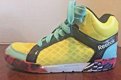 Reebok LES MILLS Dance UrTempo Mid 2.0 Dancing Shoes  Womens 8 Yellow Colourful #Reebok #Dance