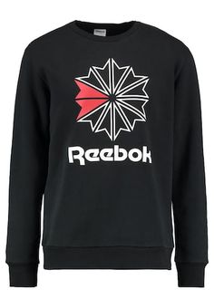 Reebok Classic BIG STARCREST CREWNECK - Sweatshirt - black - Zalando.co.uk