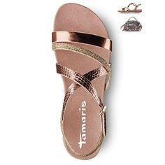 #Sandals #metallic #trend #2016, #shoes, #copper #tamaris