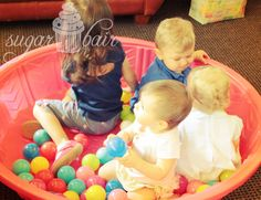 Baby ball pit at First Birthday Party
