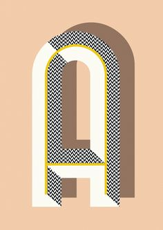 Ferm Living Shop — Bau Deco Letter Posters This would make a cool quilt pattern out of your monogram.love the lettering style Typography Letters, Typography Poster, Graphic Design Typography, Graphic Design Illustration, Japanese Typography, Number Typography, Art Deco Typography, Art Deco Logo, Design Illustrations