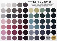 Somokey Soft Summer : smoky soft cool with a drop of dark gray