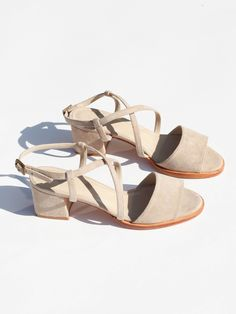 No. 6 Sydney Sandal - Beige Suede