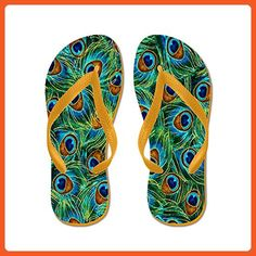 CafePress - Peacock Feather - Flip Flops, Funny Thong Sandals, Beach Sandals - Sandals for women (*Amazon Partner-Link)