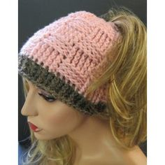 The design of this messy bun is brilliant.instead, there's an icord woven through the opening for the ponytail/messy bun. It can be tightened for thinner or thicker hair. Knitted Hats, Crochet Hats, Messy Bun, Messy Hairstyles, Basket Weaving, Don't Care, Knitting, Knitting Hats, Messy Bun Updo
