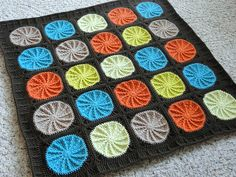 Colorful Baby Blanket using Sunny Spread pattern from Crochet Today