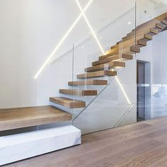 Invisible Steel Stringer Floating Staircase with Landings picture from Shenzhen Ace Architectural Products Co., Limited view photo of Staircase, Floating Staircase, Steel Floating Staircase.Contact China Suppliers for More Products and Price. Staircase Landing, Floating Staircase, Staircase Railings, Staircase Design, Stair Design, Stair Treads, Timber Staircase, Staircase Ideas, Spiral Staircases