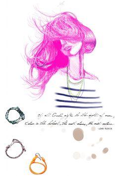diy neon necklace // illustration by sam