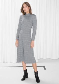& Other Stories image 2 of Mock Neck Dress in Grey