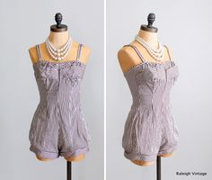 Vintage 1950s Swimsuit : 50s Pin Up Bathing Suit