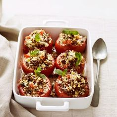 Stuffed Tomatoes with Lean Ground Beef Recipe - Beef Recipes - Delish