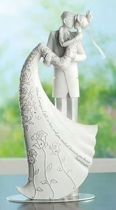 """$39.95 Wedding Cake Topper The Kiss Figurine Language of Love 9 inch Roman: Amazon.com: Home & Kitchen """"When I saw you, I fell in love, and you smiled because you knew."""" -- Arrigo Boito"""