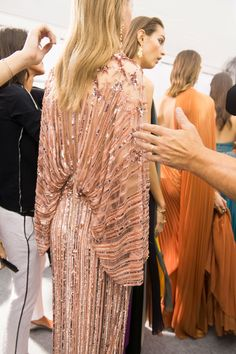 Elie Saab at Paris Fashion Week Spring 2017 - Backstage Runway Photos