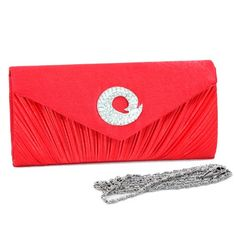 Dasein Women's Pleated Flap Over Front Clutch Evening Purse Bag