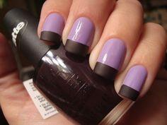 Forever 21s, Love & Beauty in Lavender w/ OPI Lincoln Park After Dark matte, for tips