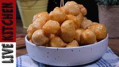 Πεντανόστιμοι Λουκουμάδες!!!(Επαγγελματική Συνταγή)/Greek Sweet Balls(Lo... Greek Sweets, Greek Desserts, Donuts, Greece, Cereal, Trust, Skinny, Cooking, Breakfast