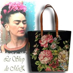 Collection Artisanale de Sacs Cabas Le ShoP de MoZ, canevas vintage , A French Tote Bag Collection, French needlepoint tapestry