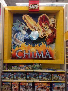 LEGO Chima Display at Toys R Us