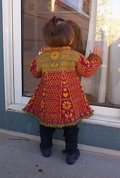 Ravelry: Ramona's Sweater pattern by Karen Gress - Knitted stranded colorwork knitted toddler sweater