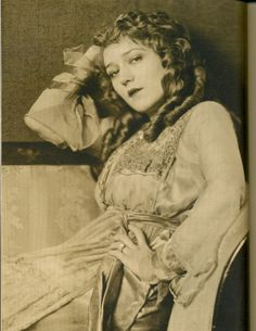 Sultry Mary Pickford in 1918.  Photograph by Campbell Studios.