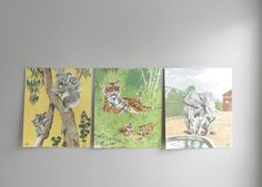 vintage animal prints / set of three by ohalbatross on Etsy, $18.00