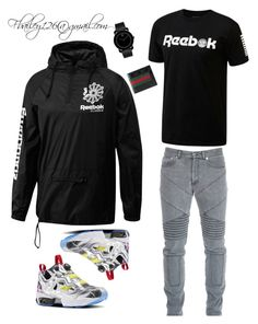Untitled #774 by fbailey126 on Polyvore featuring polyvore, Reebok, Givenchy, Movado, Gucci, men's fashion, menswear and clothing