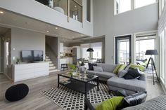 Kotitalo Tähkä kohde 9 olohuone Loma-asuntomessut 2014