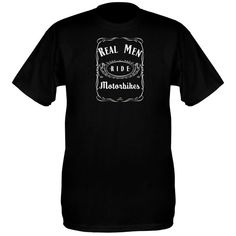 Real Men Ride Motorbikes T Shirt – Based on the famous Tennessee whiskey bottle label 😉 Medium sized logo printed on the front Tennessee Whiskey, Bottle Labels, Real Men, Motorbikes, Whiskey Bottle, Biker, Restaurants, Motorcycle, Printed