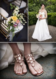 Love the flats for wedding shoes