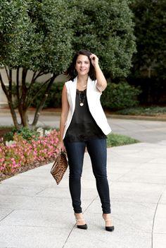White sleeveless ves