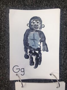 G - Gorilla. Handprint craft